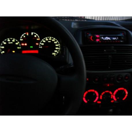 Led tuning full interior Fiat Punto
